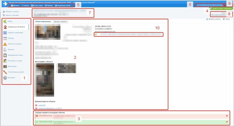 Структура и содержание экранов системы АТМ